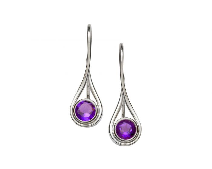 Ed Levin Sterling Silver Desire Gemstone Earrings