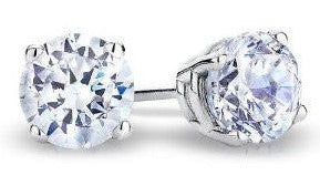 .56 carat total weight diamond 18kt white gold earrings