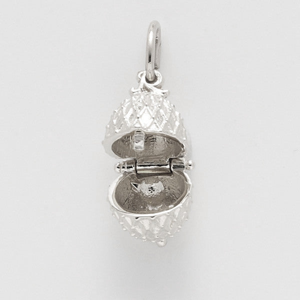 Sterling Silver Easter Egg Charm #8135