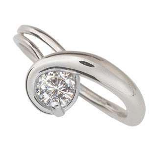 Ed Levin Gem Elegance 14kt White Gold Ring RI357