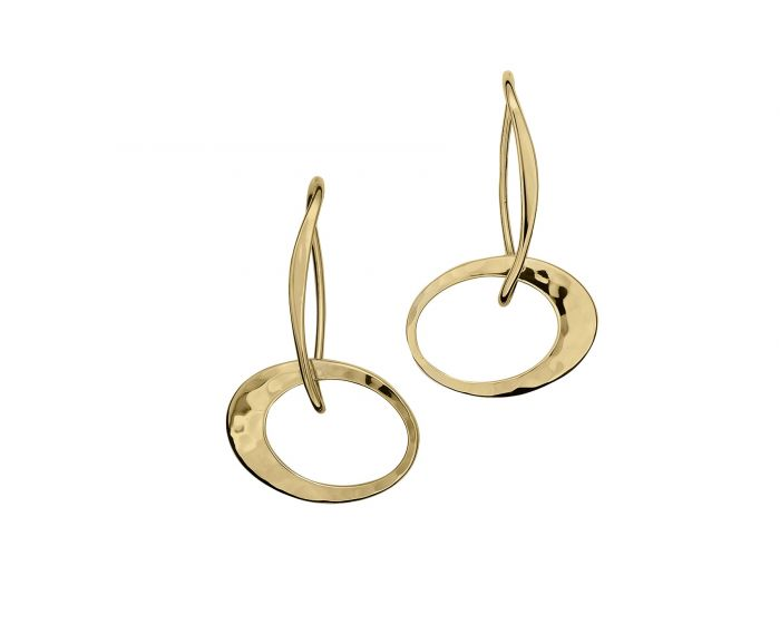 Ed Levin 14kt Gold Petite Elliptical Earring
