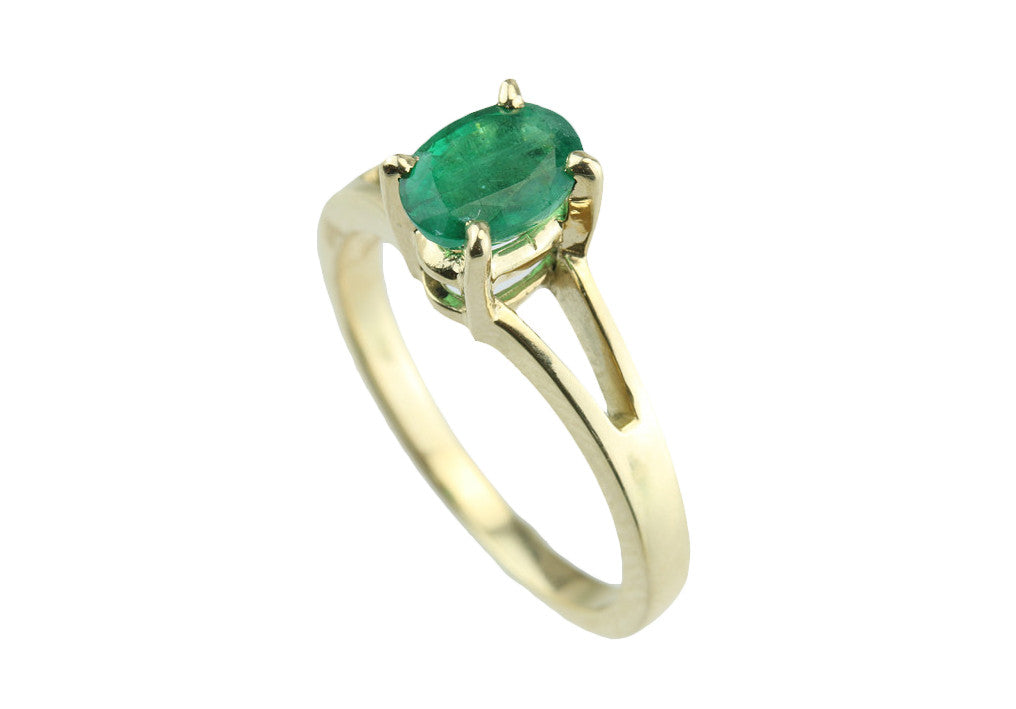 .81ct Oval Emerald 14kt Gold Ring