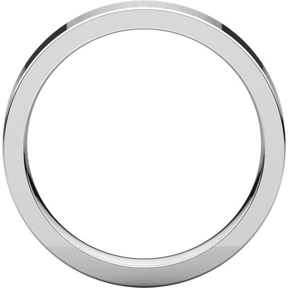 Flat Comfort Fit Wedding Band (FIR)