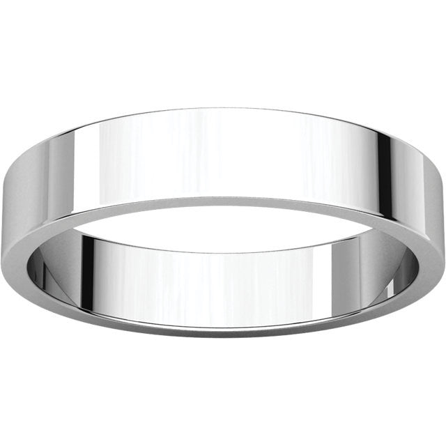 Flat Wedding Band (F)