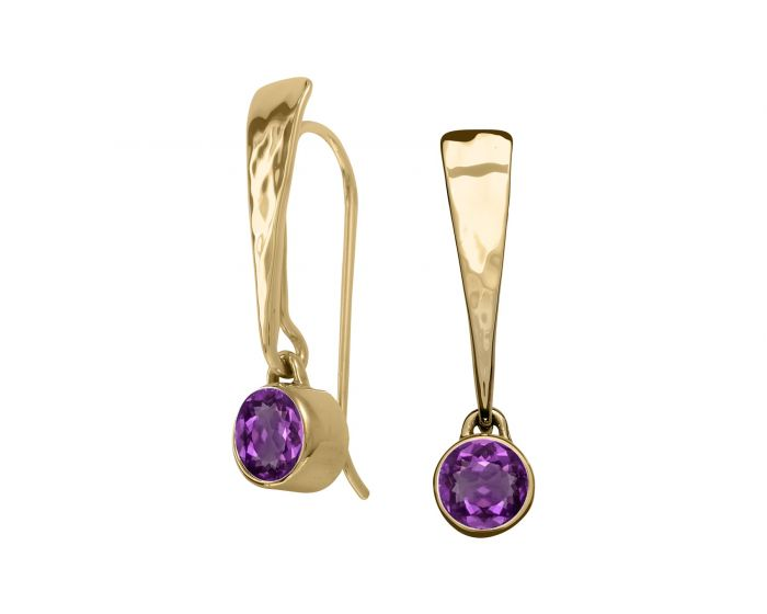Ed Levin 14kt Gold Excitement Gemstone Earrings