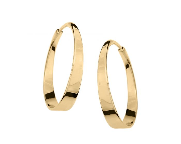 Ed Levin 14kt Gold Aura Hoop earrings