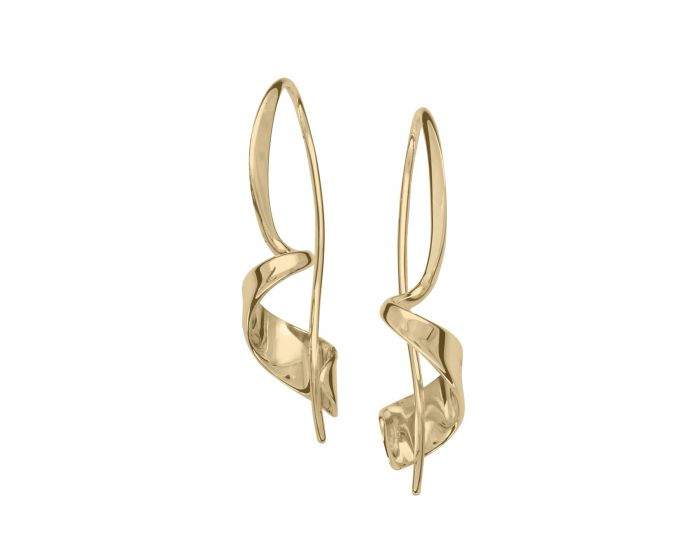 Ed Levin 14kt Gold Corkscrew Earrings