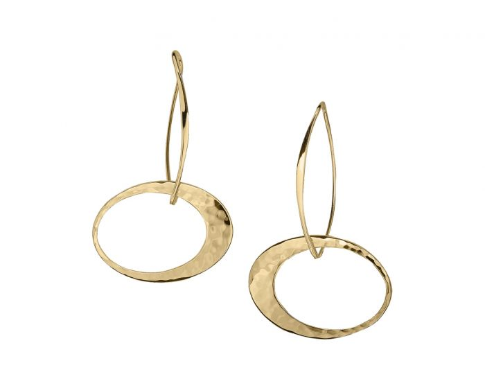 Ed Levin 14kt Gold Elliptical Elegance Earrings