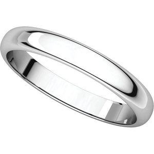 Half Round Light Wedding Band HRL