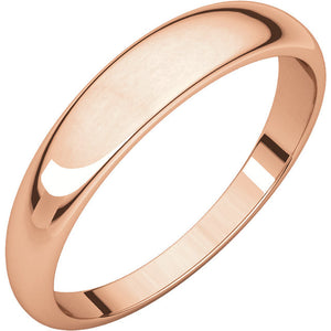 Half Round Tapered Wedding Band (HRT)