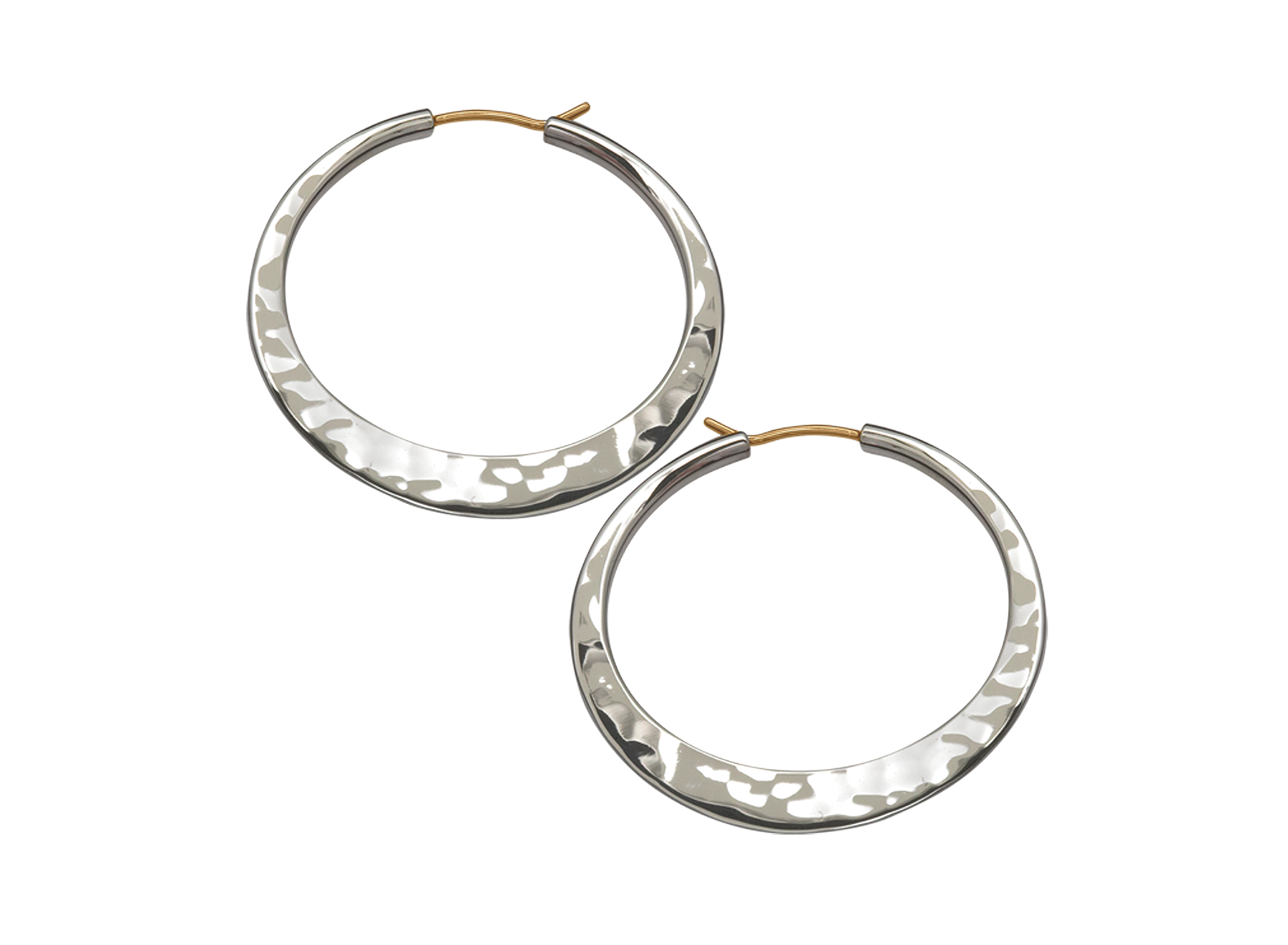 Sterling Silver Hand Hammered Hoop Earrings