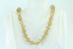 Golden Rutilated Quartz Gold Filled Necklace 18""