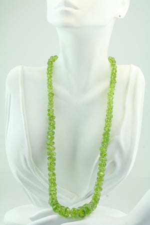 "22"" Faceted Peridot Necklace"