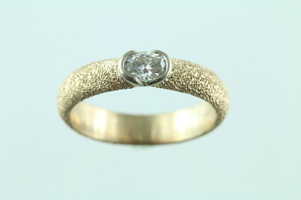 .29CT Diamond 14KT Two Tone Rings Size 6.25