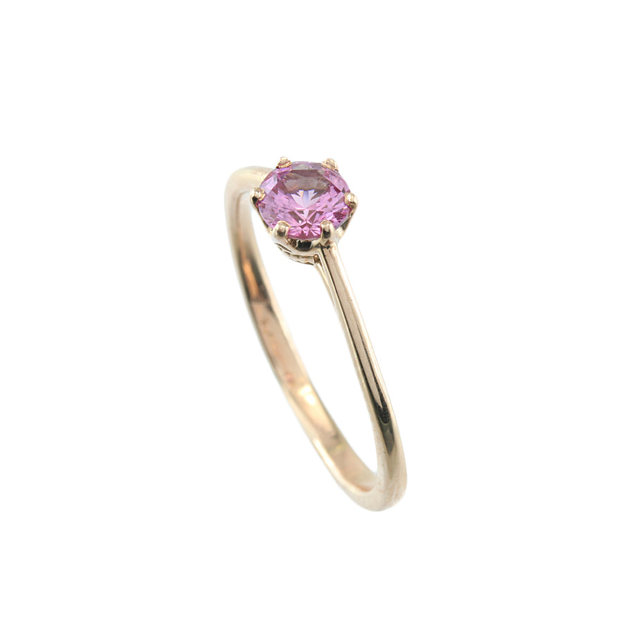Pink Sapphire 14KT Rose Gold Ring
