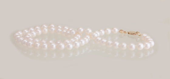 5.5-6mm Freshwater Pearl Necklace With Gold Filled Clasp