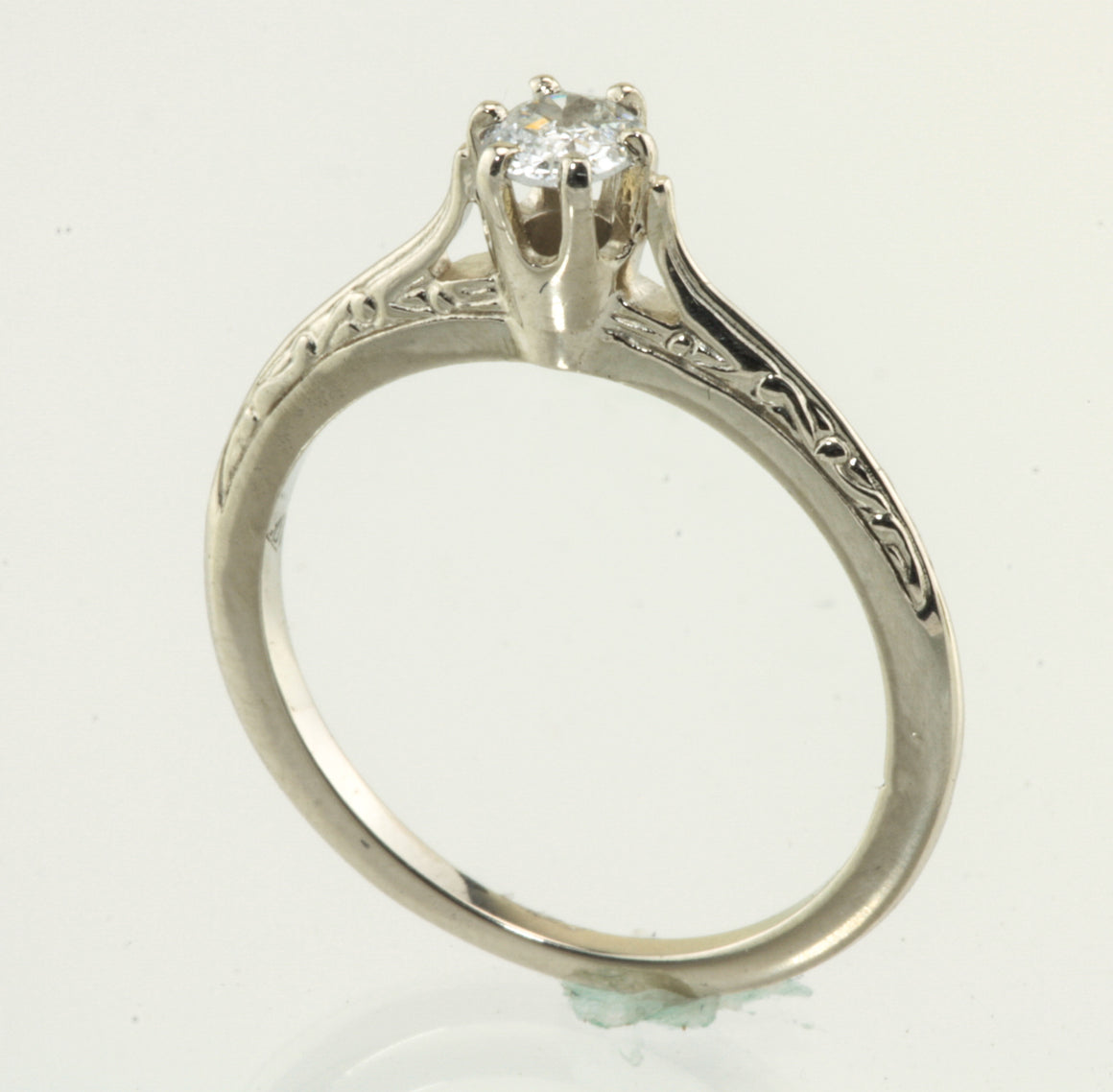 Diamond Solitaire 14kt White Gold