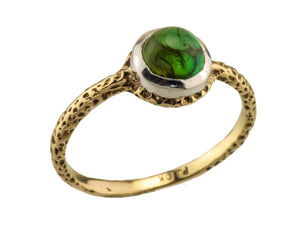Green Tourmaline 10kt Gold Ring