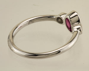 Tourmaline and Diamond 18kt White Gold Ring