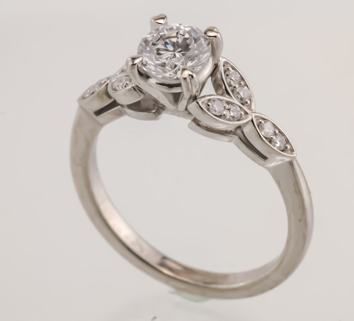 .71 ct Diamond White Gold Engagement Ring