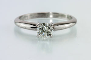 .42 Carat J SI2 Diamond Platinum Solitaire