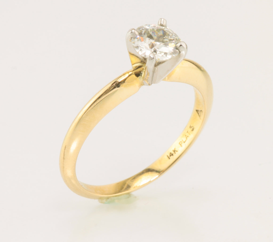 .60 Carat Euro Cut Diamond Solitaire