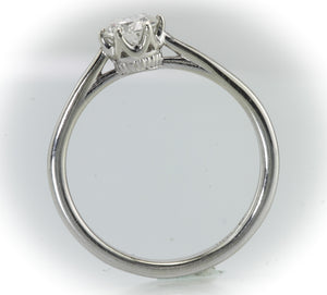 1/2 Carat 14kt White Gold Solitaire