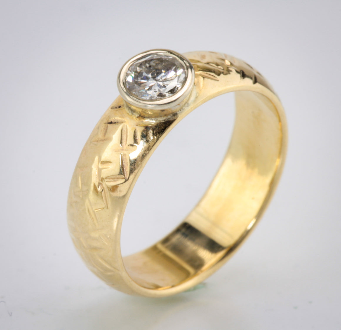 .48ct Diamond Bezel Set On 6mm Band