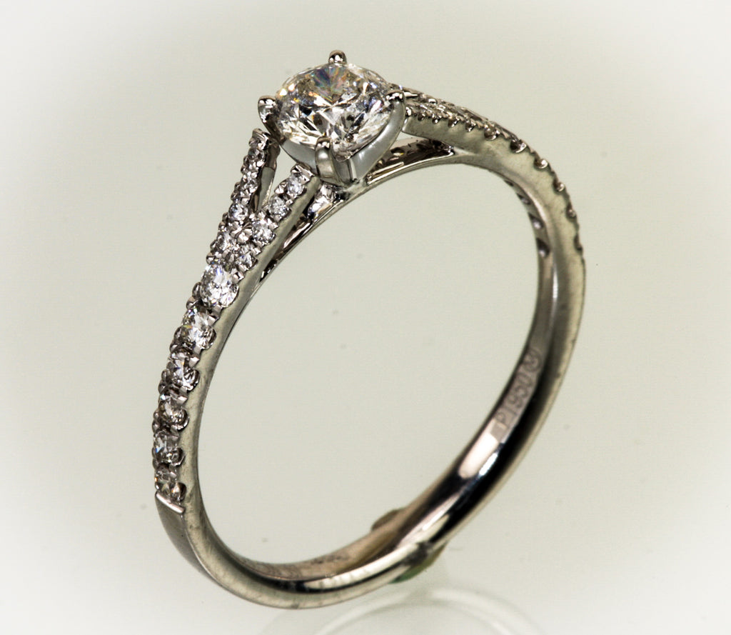 Platinum .65 Carat Total Diamond Weight Ring