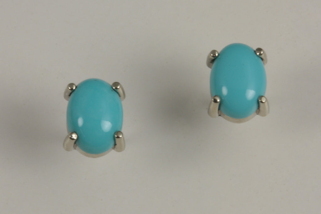 14KW Turquoise Post Earrings