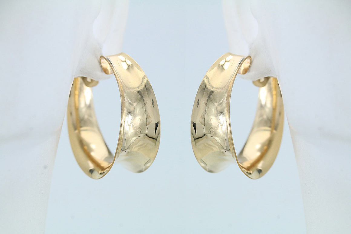 Hand Forged Gold Filled Hoop Earrings