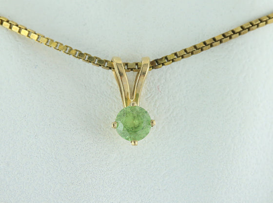 Demantoid Garnet 14kt Gold Pendant