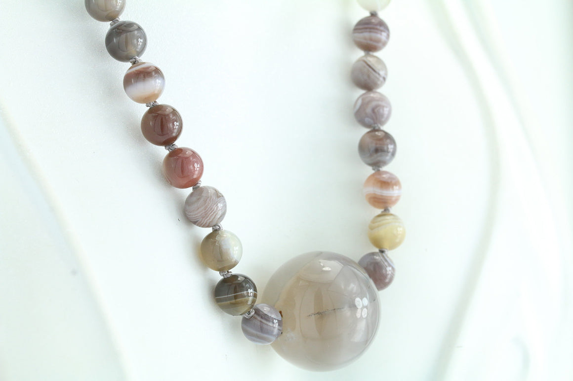 Botswana Agate Necklace 21""