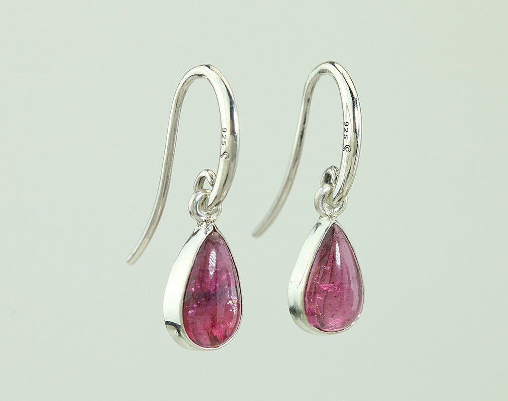 6.32ct Pink Tourmaline Sterling Silver Earrings