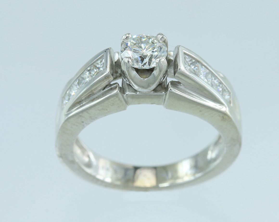 .52CT (.92CTW) Diamond 14kt White Gold Ring