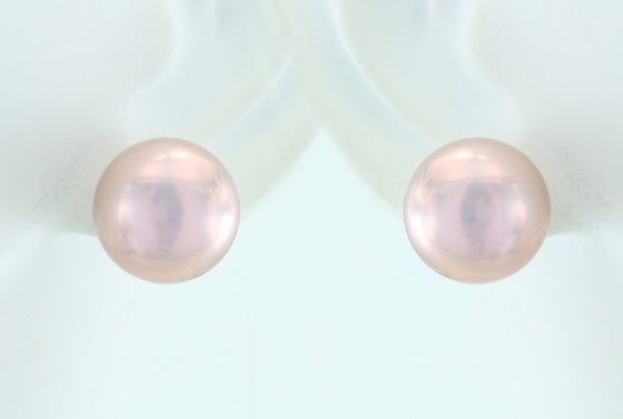 Natural Color Lavender Freshwater Pearl Sterling Silver Posts 11.5mm