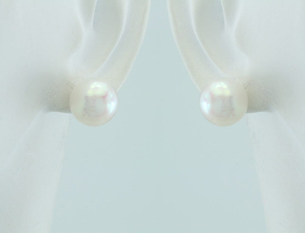 Freshwater Pearl Sterling Silver Posts 10-10.5mm