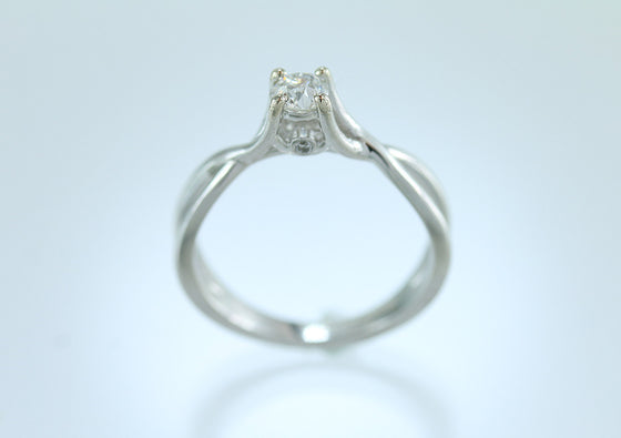 .36 Carat Diamonds 14KT White Gold Ring.