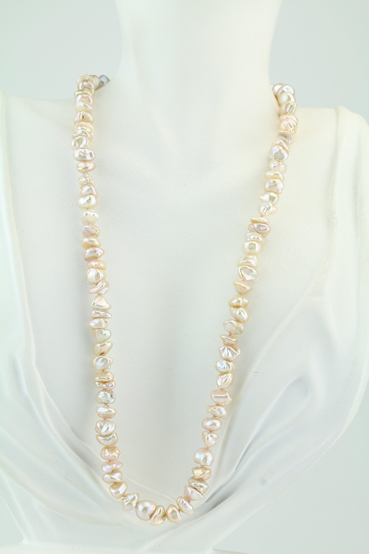 Freshwater Keshi Pearl Necklace 19""