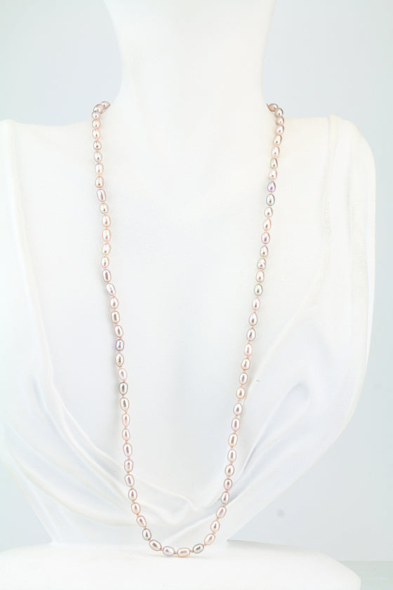 Peach Freshwater Pearl Necklace 20""