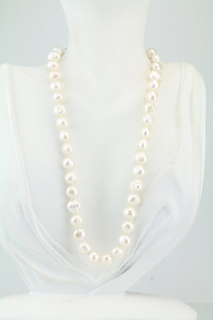 White Nugget Freshwater Pearl Necklace 18""