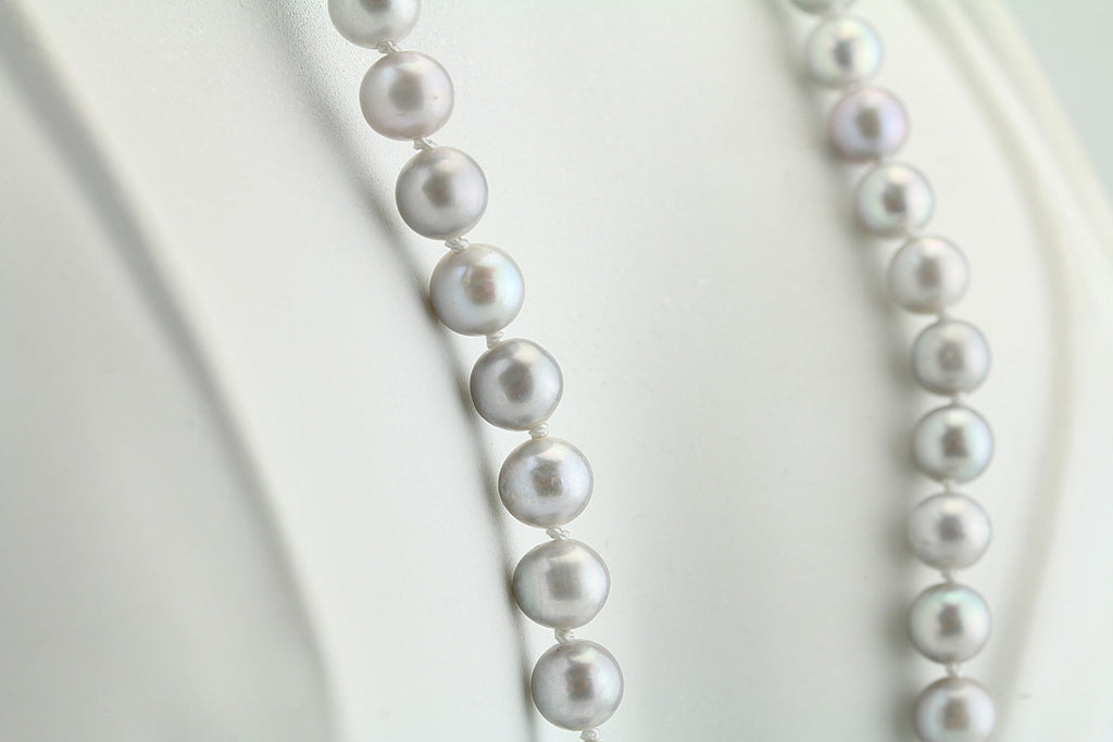 Grey Freshwater Pearl Necklace 19""