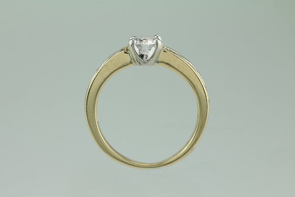 .64ct D SI3 14kt and Platinum Solitaire