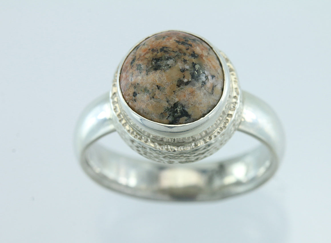 Maine Granite Sterling Silver Ring