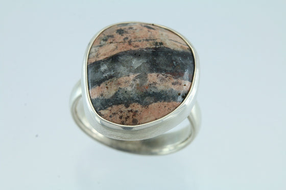 Maine Beachstone Sterling Silver Ring