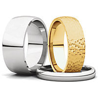 Comfort Fit Light Wedding Bands (IRL)