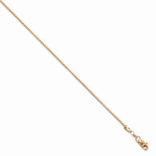 Leslies 14kt Rose Gold 1.2mm Wheat Chain