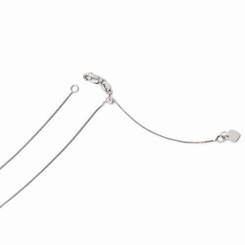 Leslies 14kt White Gold .7mm Adjustable Box Chain