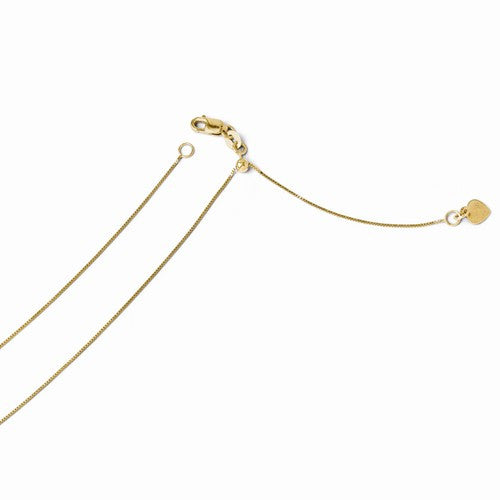 Leslies 14kt Yellow Gold .7mm Adjustable Baby Box Chain