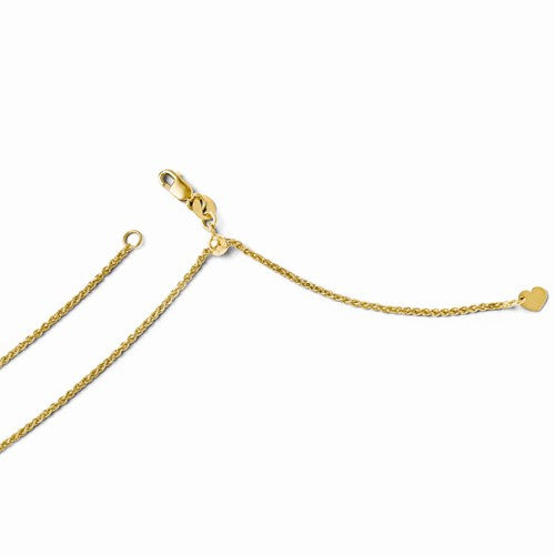 Leslies 14kt Yellow Gold Adjustable 1.4mm Wheat Chain